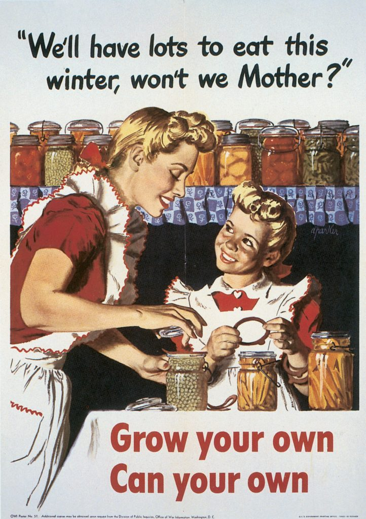 US poster promoting canning, 1943