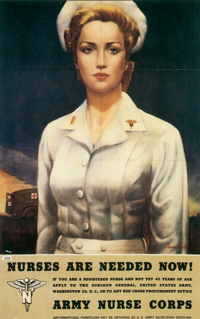 US Army Nurse Corps recruiting poster, 1945