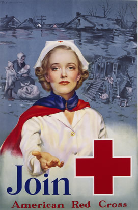 American Red Cross recruiting poster for nurses in WWII