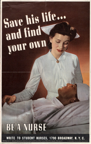 US Army Nurse Corps recruiting poster, WWII
