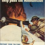 """US poster encouraging tin can collection, WWII. Read more: """"Make It Do--Metal Shortages in World War II"""" on Sarah Sundin's blog."""