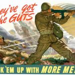 "US poster encouraging conservation of metal for military purposes. Read more: ""Make It Do--Metal Shortages in World War II"" on Sarah Sundin's blog."