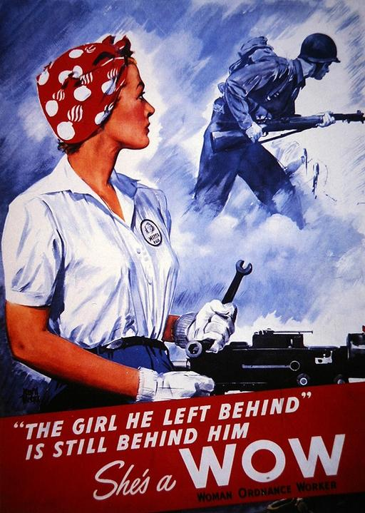 US poster recruiting Women Ordnance Workers, WWII
