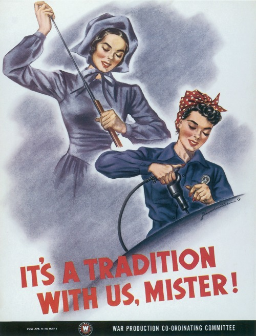 US poster by J. Howard Miller, WWII