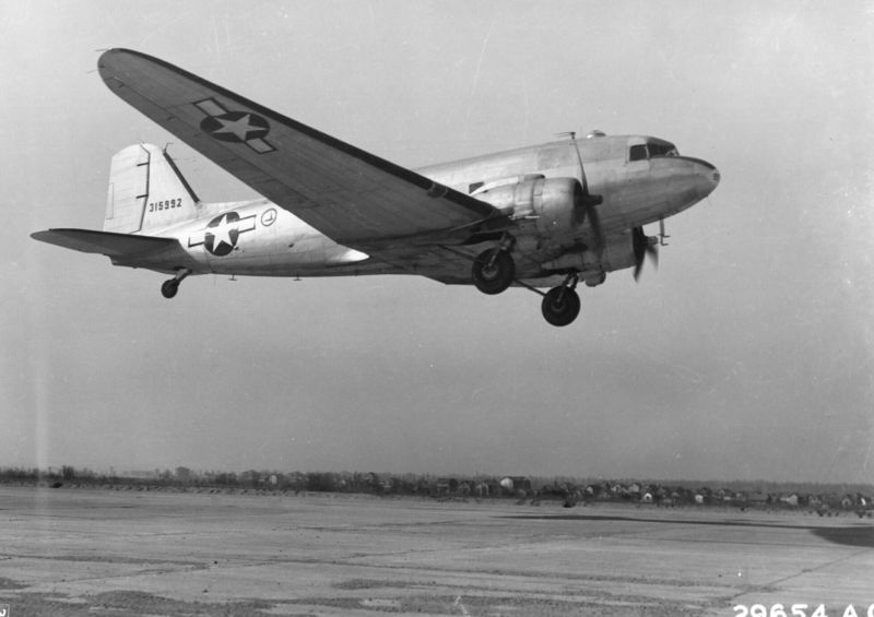 Douglas C-47 Skytrain of US Air Transport Command, 1940s (US Air Force photo)