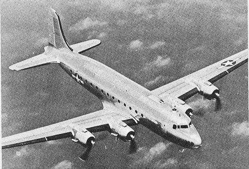 C-54 Skymaster cargo plane, WWII (US Army Air Force photo)