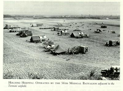 Holding hospital, 56th Medical Battalion, Termini AF, Termini Imerese, Sicily, 1943 (US Army Medical Department, Office of Medical History)