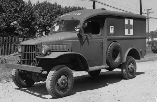 Dodge WC9 1/2 ton ambulance, 15 May 1941 (US National Archives)