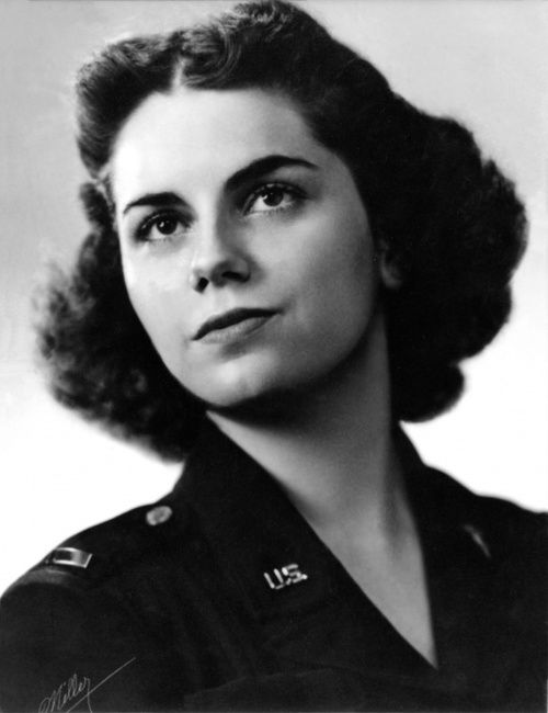 Flight nurse Lt. Mary Louise Hawkins, WWII (US Air Force photo)