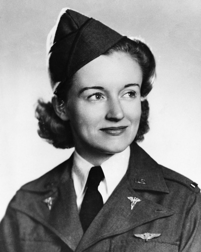 Flight nurse 2nd Lt. Ruth Gardiner (US Air Force photo)
