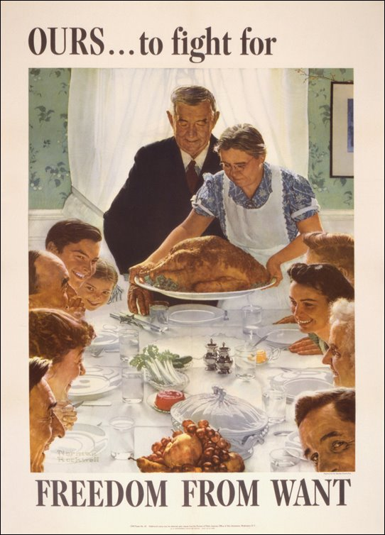 """Freedom from Want,"" by Norman Rockwell, 1943"