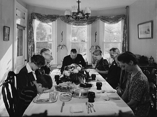 Thanksgiving grace, 1942 (US Library of Congress)