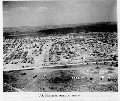US Hospital Area at Nettuno, near Anzio, Italy, 1944 (US Army Medical Department)