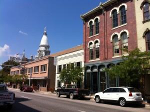 Columbia Street in Lafayette, Indiana