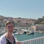 Sarah Sundin at the Vieux Port in Marseilles, France, August 2011 (Photo: Sarah Sundin)