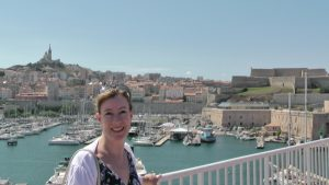 Sarah Sundin at the Vieux Port in Marseilles, France, August 2011 (Photo: Sarah Sundin)