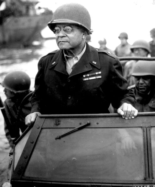 Brig. Gen. Benjamin O. Davis Sr. in France. August 8, 1944 (US National Archives: 531202)