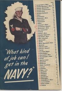 Navy jobs brochure