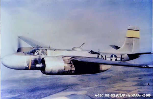 Douglas A-26C of the US 386th Bomb Group, Boxted, England, September 1944 (USAF photo)