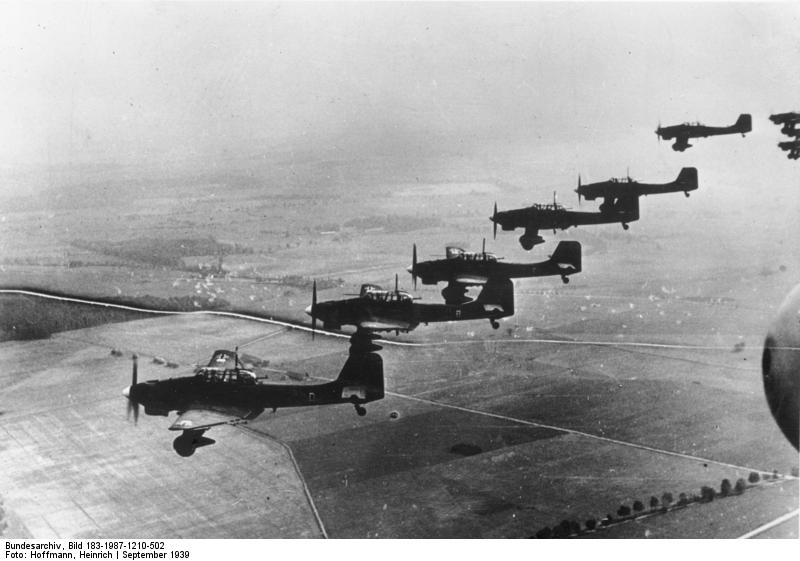 German Ju-87 Stukas over Poland, September 1939 (German Federal Archives, Bild 183-1987-1210-502)