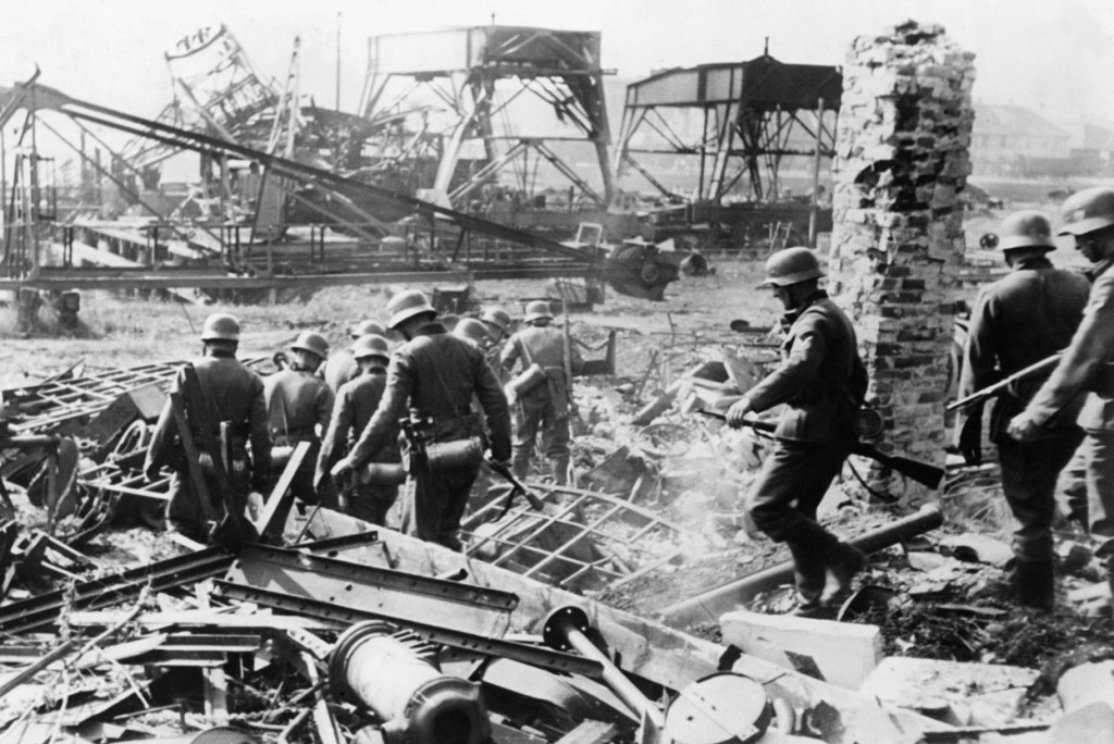 German troops at Westerplatte, Poland, 7 September 1939 (public domain via WW2 Database)
