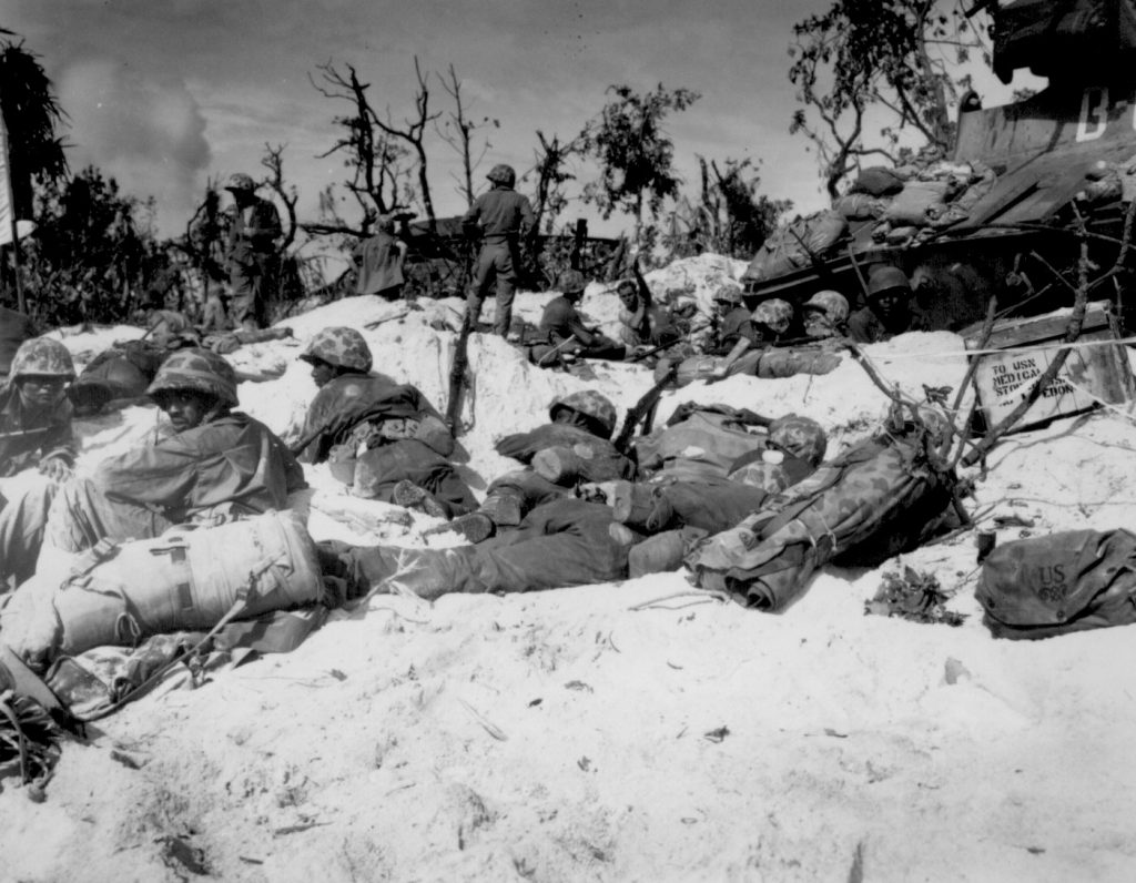 African-American Marines on Peleliu, 15 September 1944 (US National Archives)