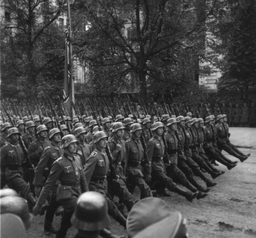 German troops marching through Warsaw, September 1939 (US National Archives)