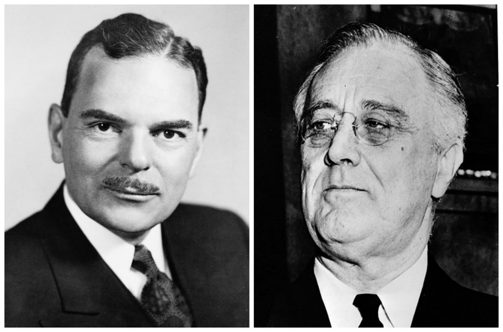 Thomas Dewey & Franklin D. Roosevelt (both images Library of Congress)