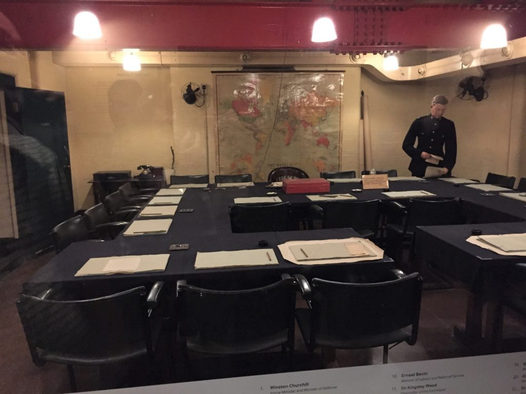 Cabinet Room in the Churchill War Rooms, London (Photo: Sarah Sundin, 6 Sept 2017)