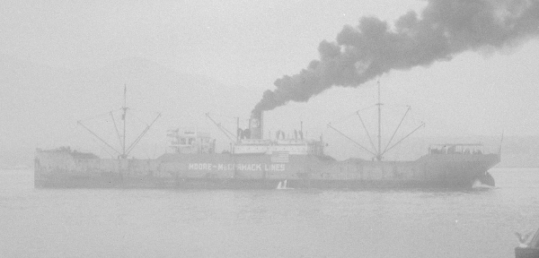 US merchant ship City of Flint, 7 July 1940 (City of Vancouver archives: CVA 447-4009)