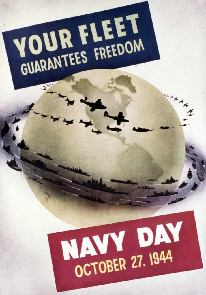 Poster for US Navy Day, 27 Oct 1944