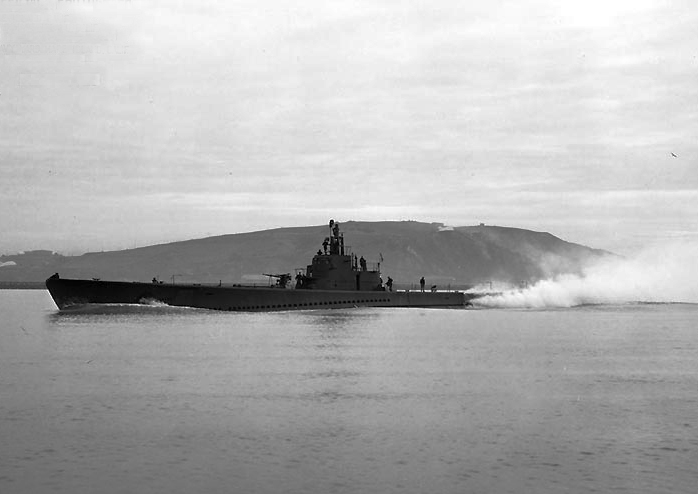 Submarine USS Seawolf off the Mare Island Navy Yard, CA, 7 March 1943 (US Navy photo # NH 99549)