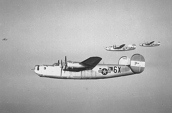 B-24 Liberators of the US 491st Bombardment Group, 1944 (US Air Force Historical Research Agency)