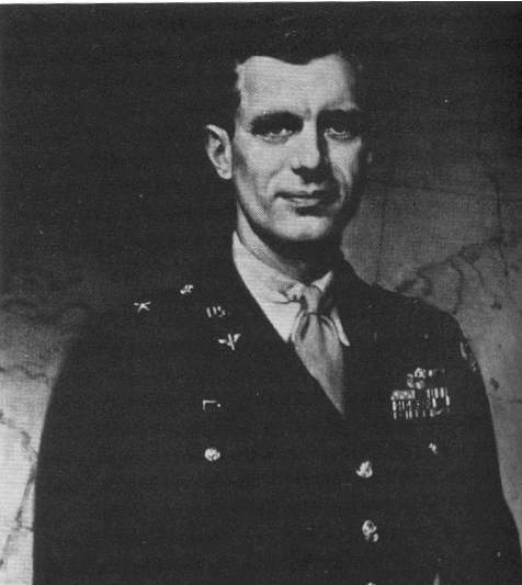 Brig. Gen. Frederick Castle on his promotion, 14 December 1944, ten days before his death (US Army Air Forces photo)