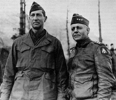 Lt. Gen. Mark Clark and Lt. Gen. Lucian Truscott in Italy, Dec 1944 (US Army photo)