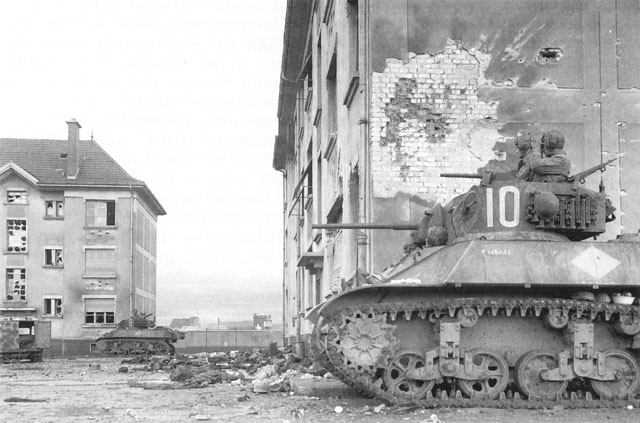French tanks in Huningue, France (US Army Center of Military History)
