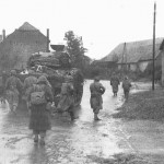Infantry-Tank Team of French 5th Armored Division, France, late 1944 (US Army Center of Military History)