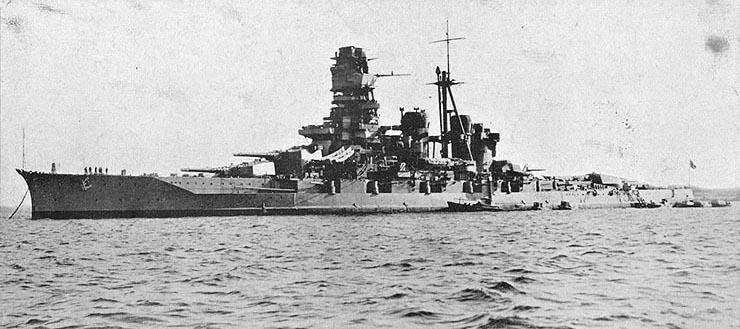 Japanese battleship Kongo, 1937 (public domain via WW2 Database)