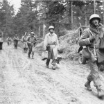 """Soldiers of the """"Lost Battalion,"""" US Seventh Army, France, late 1944 (US Army Center of Military History)"""