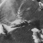 Japanese heavy cruiser Nachi under aerial attack, Manila Bay, Philippine Islands, 5 Nov 1944 (US National Archives: 80-G-287018)