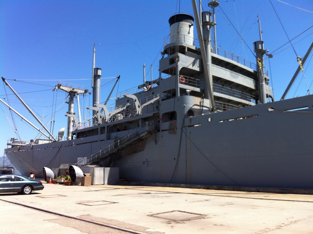 SS Red Oak Victory at Rosie the Riveter National Park, Richmond, CA, May 2014 (Photo: Sarah Sundin)