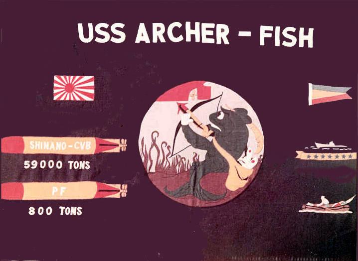 Battle flag of submarine USS Archerfish, WWII (US Navy photo)