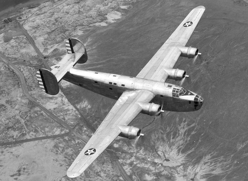 Consolidated XB-24 Liberator in flight, 1939. (US Air Force photo)