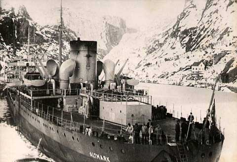 Altmark at Jøssingfjord, 16 Feb 1940 (public domain via WW2 Database)