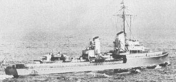 German destroyer Z-1 Leberecht Maass. (Division of Naval Inteligence of the US Navy)