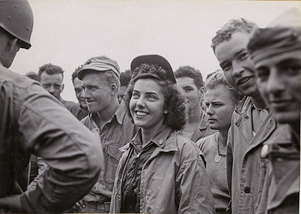 Navy Ensign Jane Kendeigh, the first flight nurse to arrive on Iwo Jima. (US Marine Corps photo)