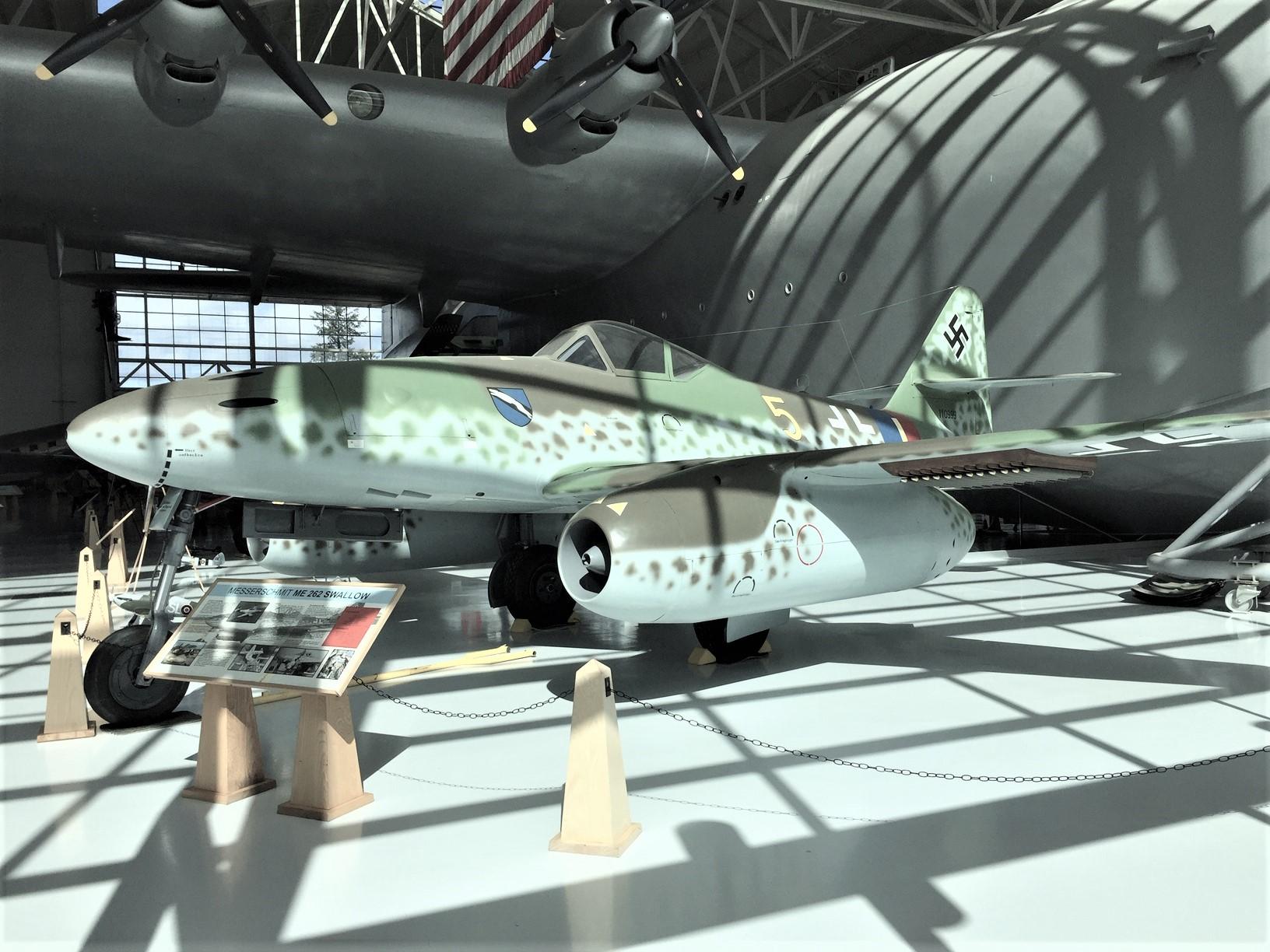 German WWII-era Messerschmitt Me 262 jet at Evergreen Aviation & Space Museum, McMinnville, OR (Photo: Sarah Sundin, March 2019)