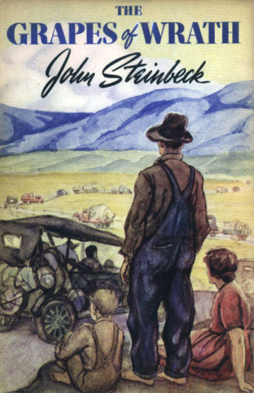 First edition cover of The Grapes of Wrath by John Steinbeck, 1939