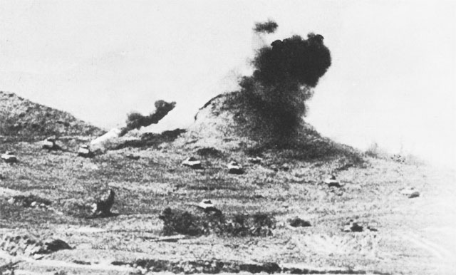 """Chocolate Drop Hill"" on Okinawa, 1945 (US Army Center of Military History)"