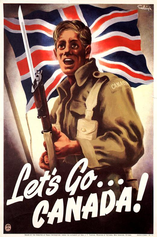 Canadian poster, WWII